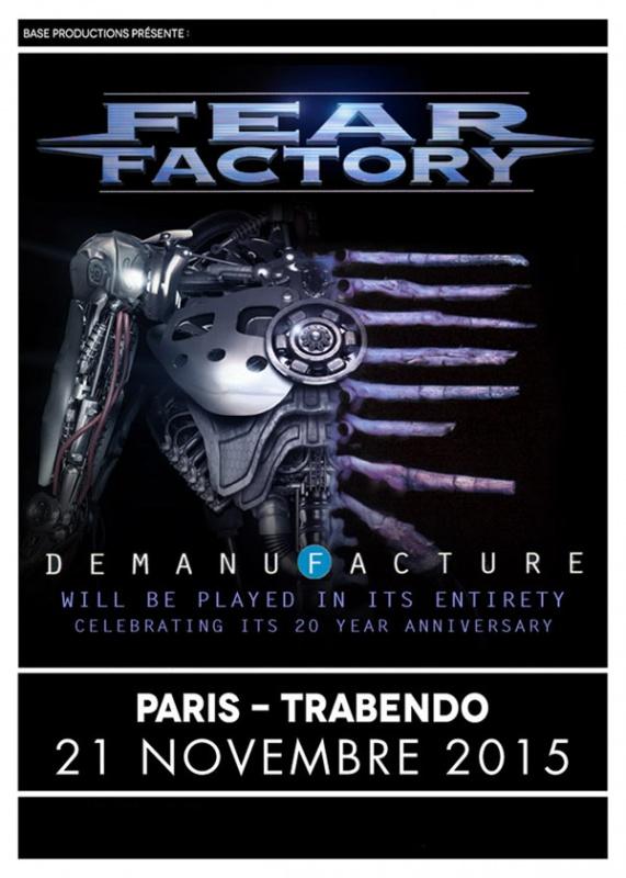 Fear Factory + Once Human @ Trabendo (Paris), le 21 Novembre 2015