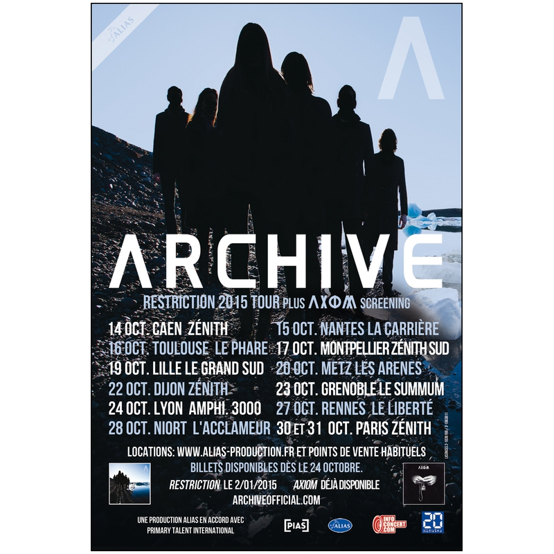 Archive @ Zénith (Paris), le 30 Octobre 2015