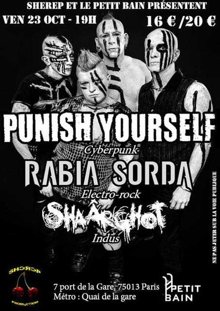 Punish Yourself + Rabia Sorda @ Petit Bain (Paris), le 23 Octobre 2015