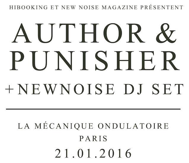 Author & Punisher @ La Mécanique Ondulatoire (Paris), le 21 Janvier 2015