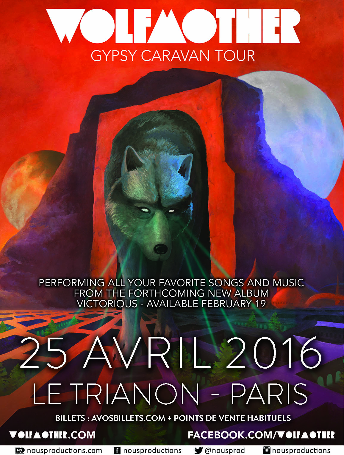 Wolfmother @ Trianon (Paris), le 25 Avril 2016