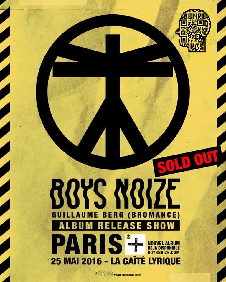 Boys Noize @ Gaîté Lyrique (Paris), le 25 Mai 2016