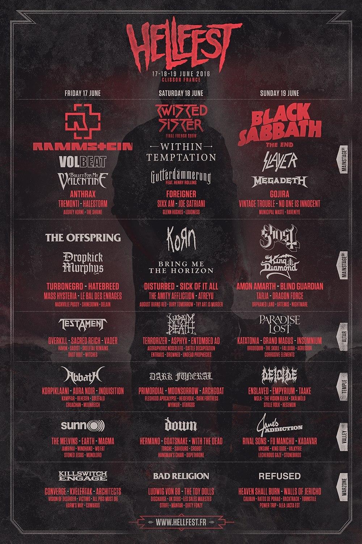 Hellfest @ Clisson, du 17 au 19 Juin 2016