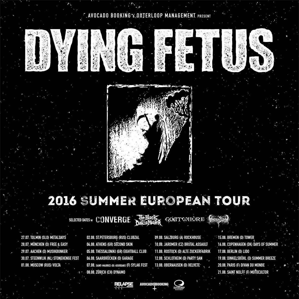 Dying Fetus @ Divan du Monde (Paris), le 20 août 2016
