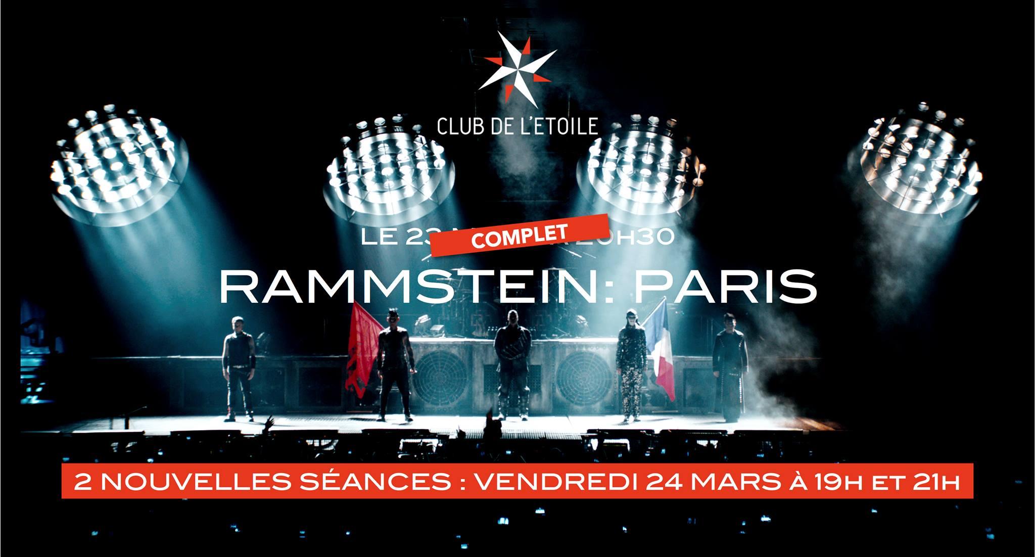 Rammstein– PARIS : Concert filmé @ Club de l'étoile (Paris), le 24 Mars 2017