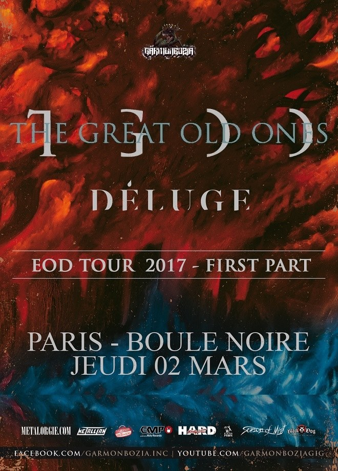 The Great Old Ones + D E L U G E @ Boule Noire (Paris), le 2 Mars 2017