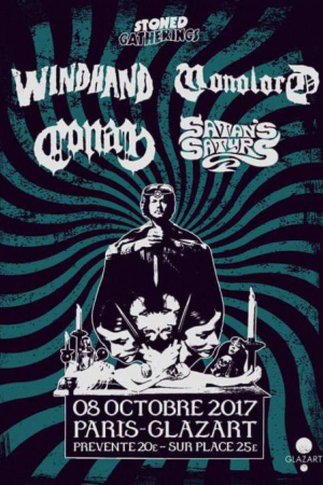Windhand + Monolord + Conan + Satan Satyr's @ Glazart (Paris), le 8 Octobre 2017