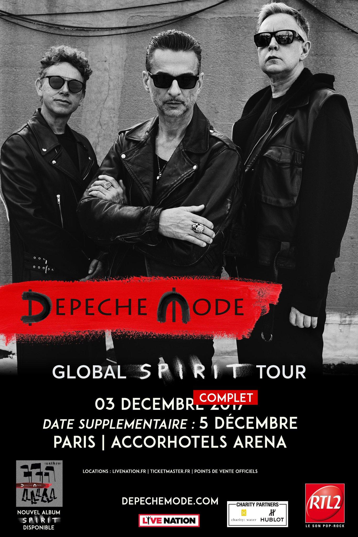 Depeche Mode @ AccorHotel Aréna (Paris), le 3 Décembre 2017
