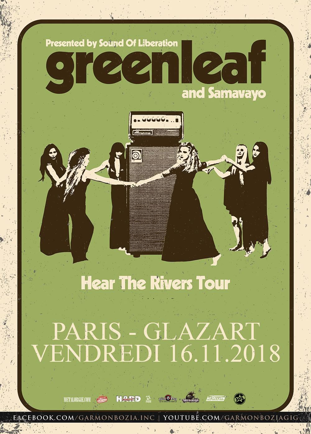 Greenleaf+ Samavayo@ Glazart (Paris), le 16 Novembre 2018