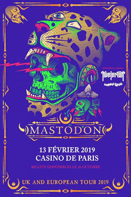Mastodon + Kvelertak + Mutoid Man @ Casino de Paris (Paris), le 13 Février 2019