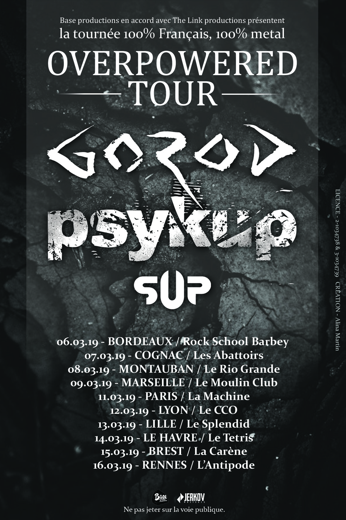 Gorod + SUP + Psykup @ la Machine du Moulin Rouge (Paris), le 11 Mars 2019