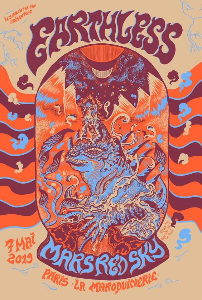 Earthless + Mars Red Sky @ Maroquinerie (Paris), le 7 Mai 2019