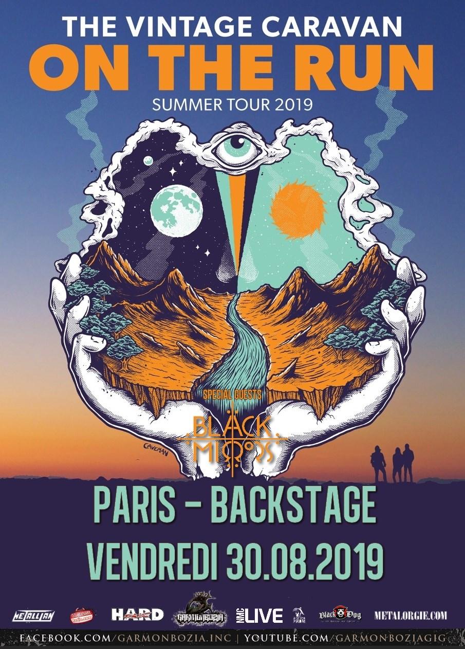 The Vintage Caravan+ The Black Mirrors@ O'Sullivans Backstage by the Mills (Paris), le 30 Août 2019