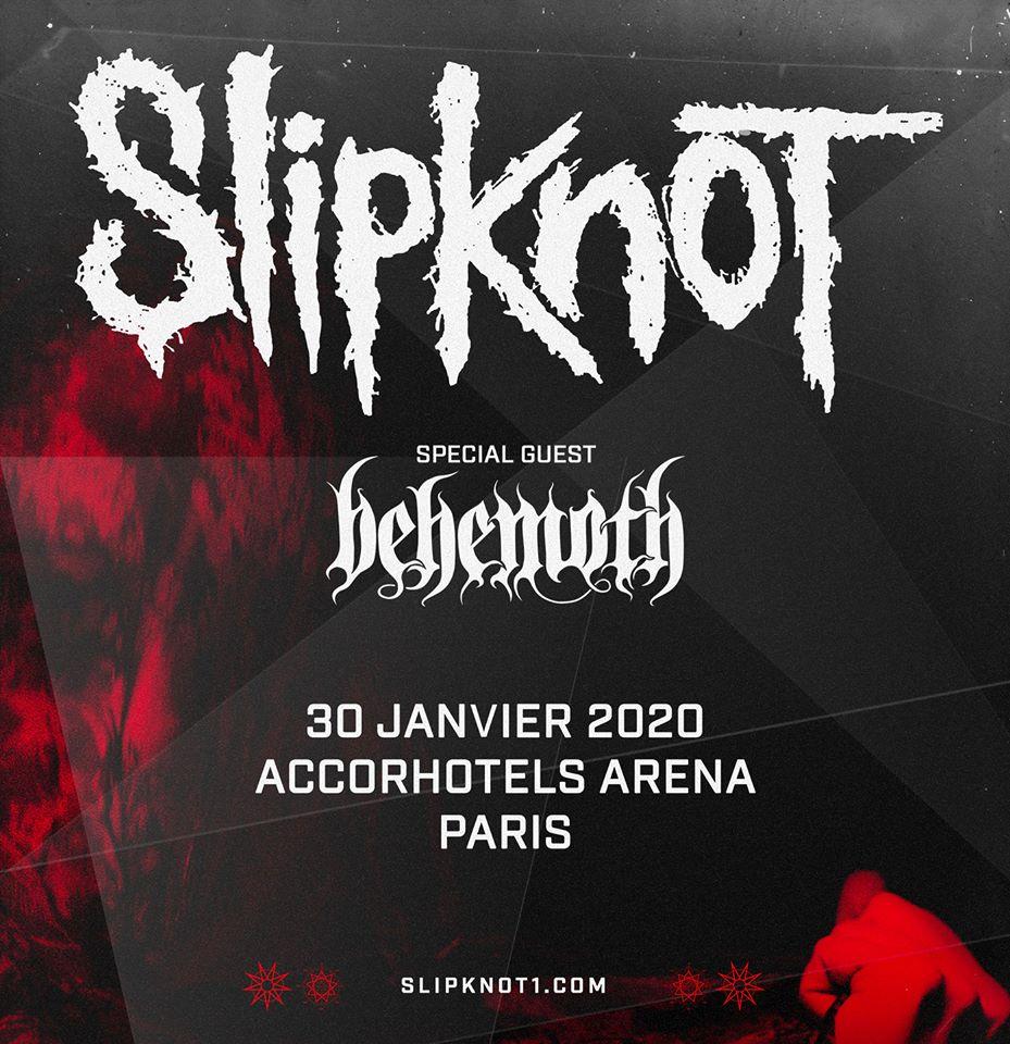 Slipknot @ AccorHotels Arena (Bercy donc ;) ), Paris, le 30 Janvier 2020