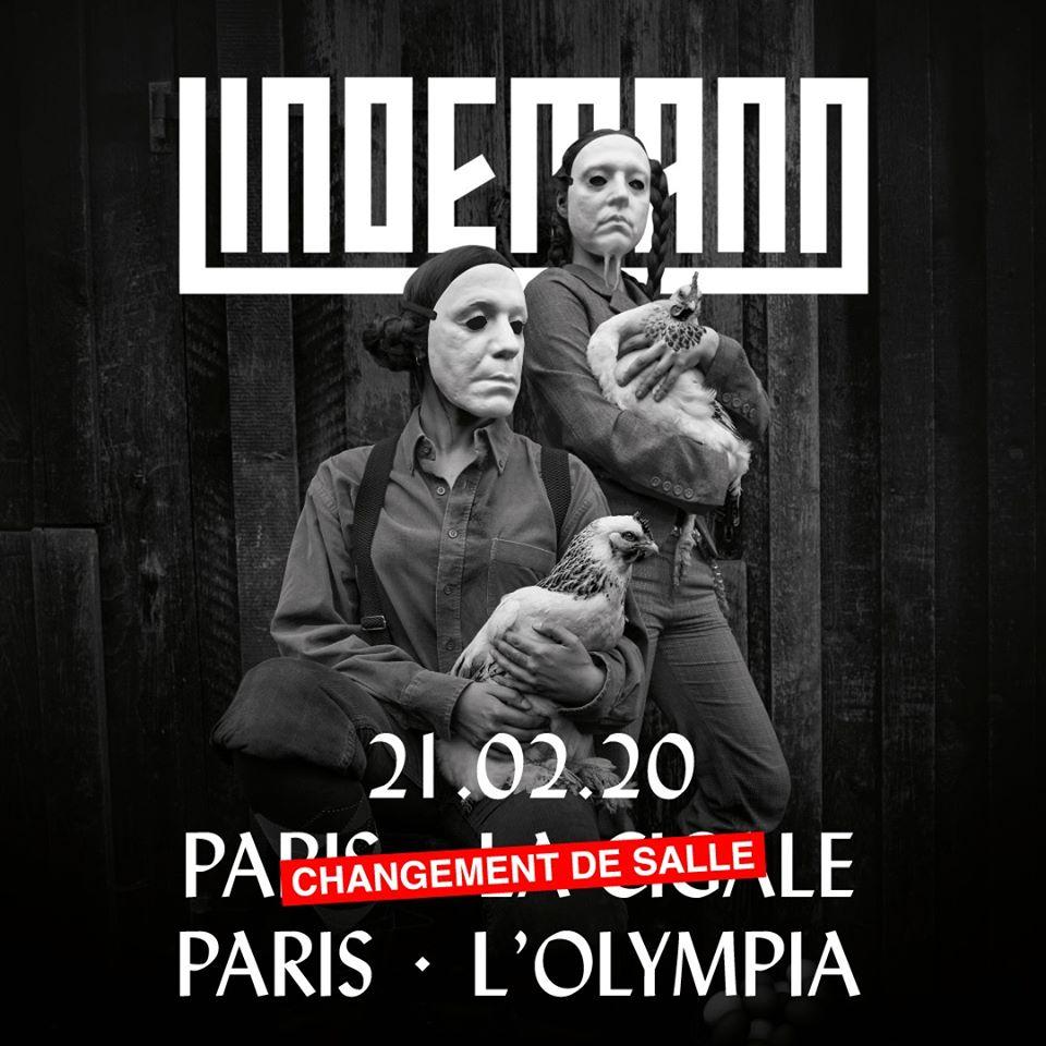 Lindemann + Aesthetic Perfection @ l'Olympia (Paris), le 21 Février 2020