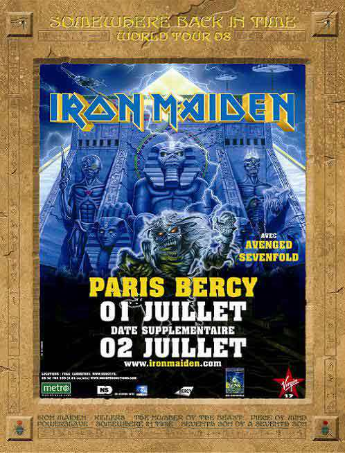 Iron Maiden + Avenged Sevenfold + Lauren Harris @ Bercy (Paris), les 1er et 2 juillet 2008