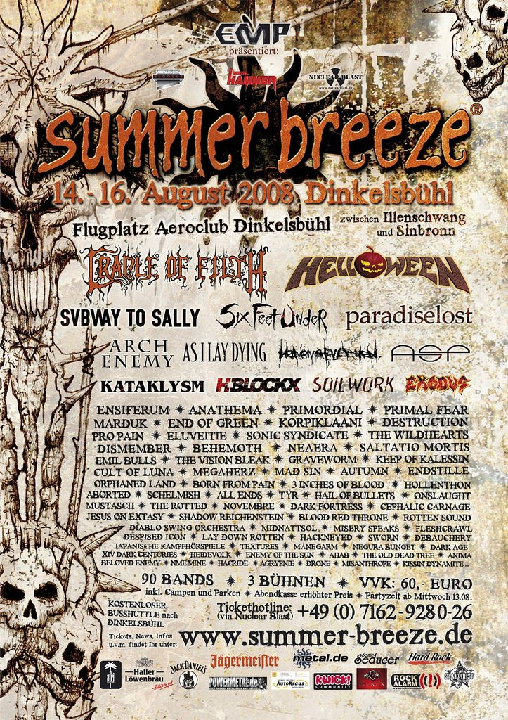 Summer Breeze Open Air Festival @ Dinkelsbühl (Allemagne), du 14 au 16 Aout 2008