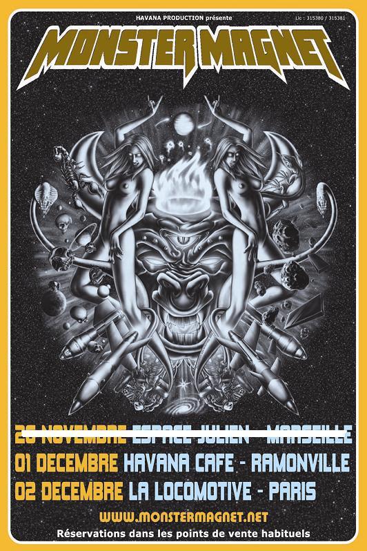 Nebula + Monster Magnet @ La Loco (Paris), le 02 Décembre 2008