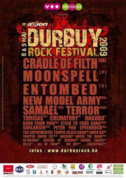 Durbuy Rock Festival @ Bomal-sur-Ourthe (Durbuy, Belgique) les 8 et 9 Mai 2009