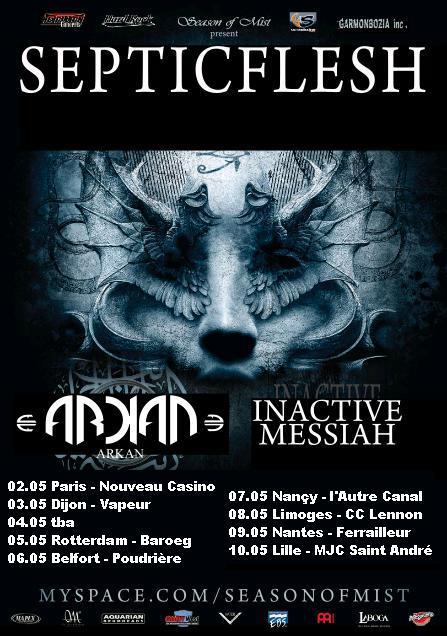 Septic Flesh + Arkan + Inactive Messiah @ MJC de St-André (Lille), le 12 Mai 2009