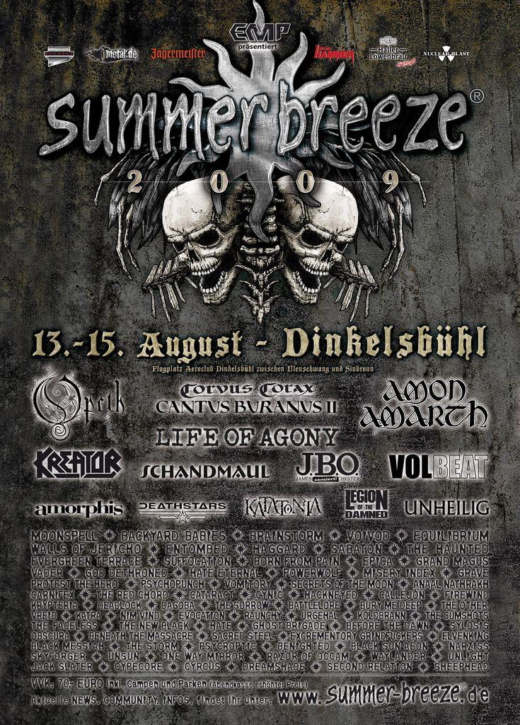 Summer Breeze 2009 @ Dinkelsbühl (Allemagne), du 13 au 15 Aout 2009