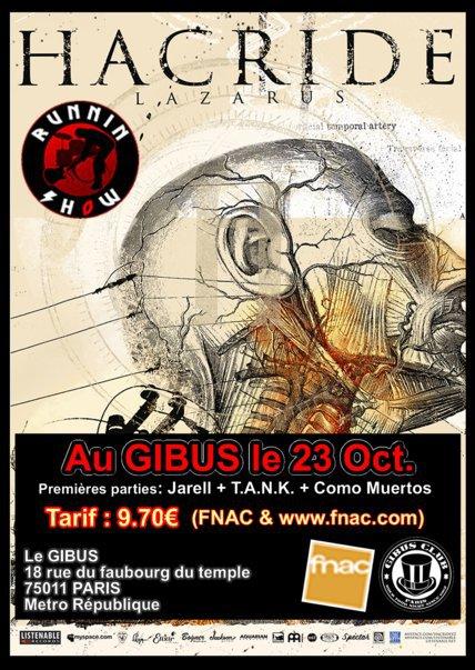 Hacride + Jarell + Como Muertos + Tank @ Gibus  (Paris), le 23 Octobre 2009