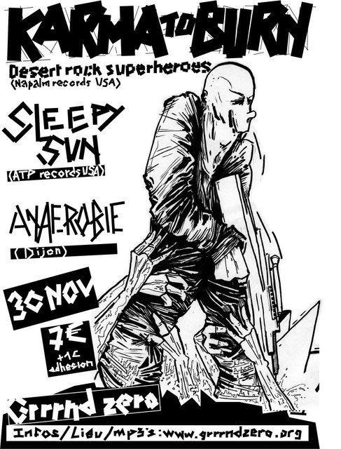Karma To Burn + Sleepy Sun + Anaerobie @ Grnd Gerland (Lyon), le 30 Novembre 2009