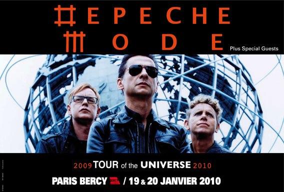 Depeche Mode + Nitzer Ebb @ Bercy (Paris), le 19 Janvier 2010