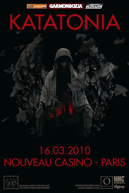 Katatonia + Swallow The Sun + Long Distance Calling @ Nouveau Casino (Paris), le 16 Mars 2010