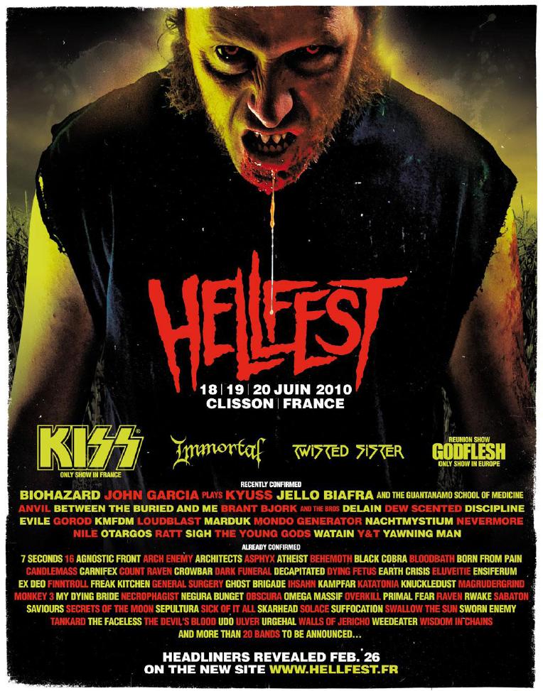 Hellfest 2010 @ Clisson (France), du 18 au 20 Juin 2010