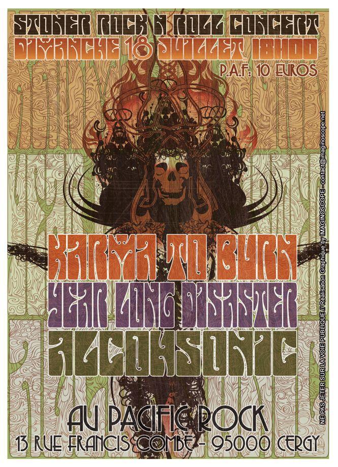 Karma To Burn + Alcohsonic @ Pacific Rock (Cergy), le 18 Juillet 2010