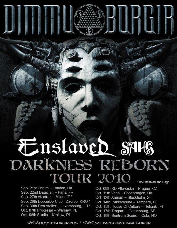 Dimmu Borgir + Enslaved + Sahg @ Bataclan (Paris), le 22 Septembre 2010
