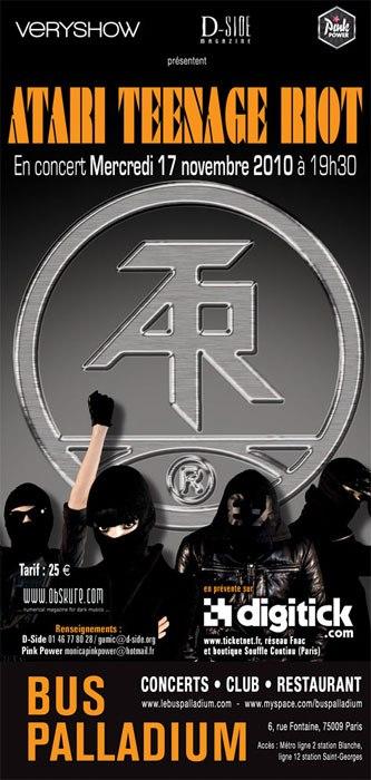 Atari Teenage Riot @ Bus Palladium (Paris), le 17 Novembre 2010