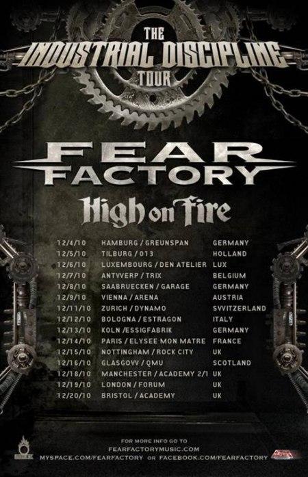 Fear Factory + High On Fire, Maroquinerie (Paris), le 14 Décembre 2010