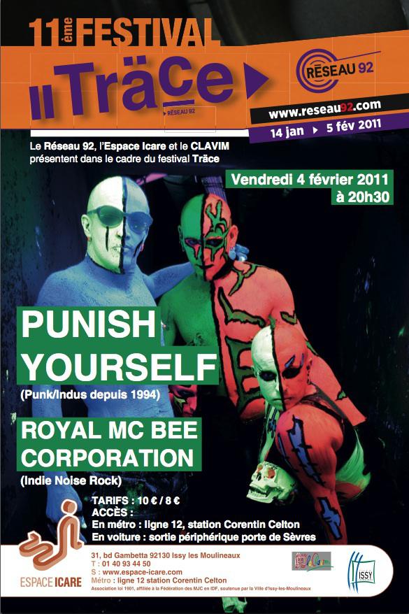 Punish Yourself @ Espace Icare (Issy-les-Moulineaux), le 4 Février 2011