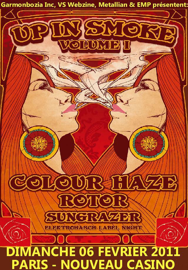 Up In Smoke Volume 1: Colour Haze + Roto + Sungrazer @ Nouveau Casino (Paris), le 06 Février 2011