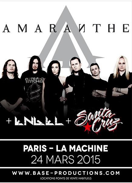 Amaranthe + Engel + Santa Cruz @ La Machine du Moulin Rouge (Paris), le 24 Mars 2015