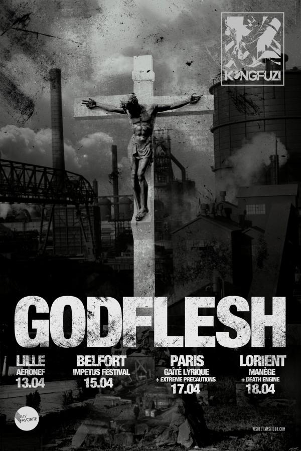 Godflesh @ Gaîté Lyrique (Paris), le 17 Avril 2015