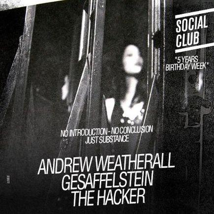 Gesaffelstein + Andrew Weatherall @ Social Club (Paris), le 02 Février 2013