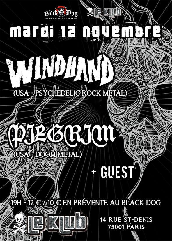 Windhand + Pilgrim @ Klub (Paris), le 12 Novembre 2013
