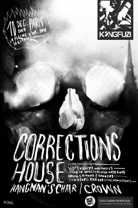 Corrections House + C R O W N + Hangman's Chair @ Flèche D'or (Paris), le 10 Décembre 2013