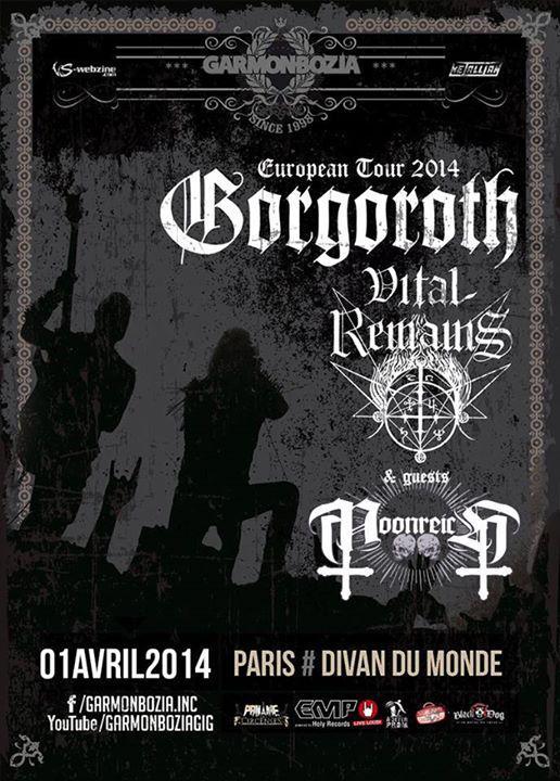 Vital Remains @ Divan du Monde (Paris), le 01 Avril 2014