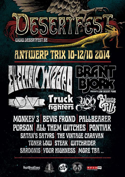 DesertFest @ Anvers (Belgique), du 10 au 12 Octobre 2014