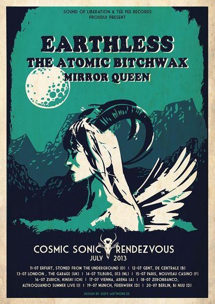Earthless + The Atomic Bitchwax @ Nouveau Casino (Paris), le 15 Juillet 2013