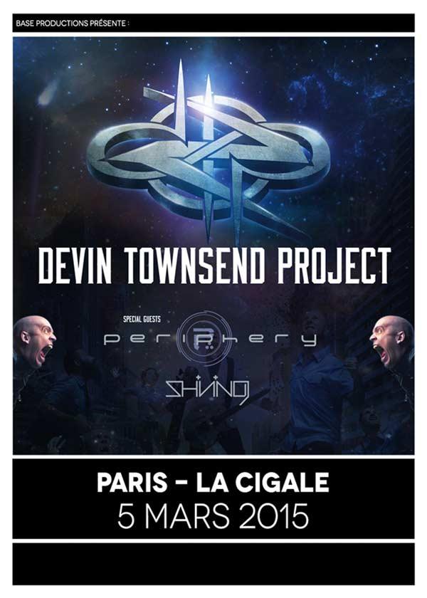 Devin Townsend Project + Periphery + Shining @ La Cigale (Paris), le 5 Mars 2015