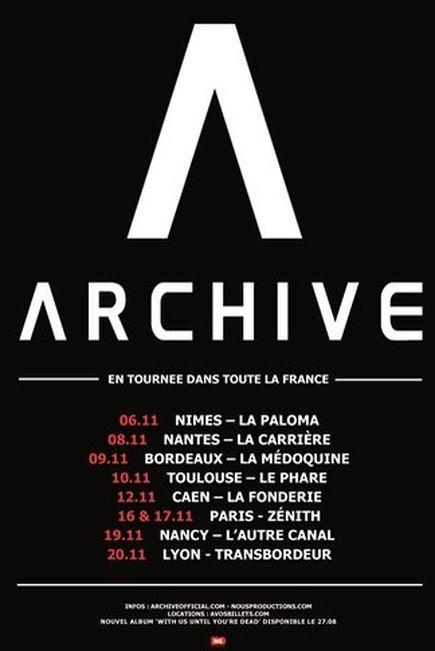 Archive @ Zenith (Paris), le 16 Novembre 2012
