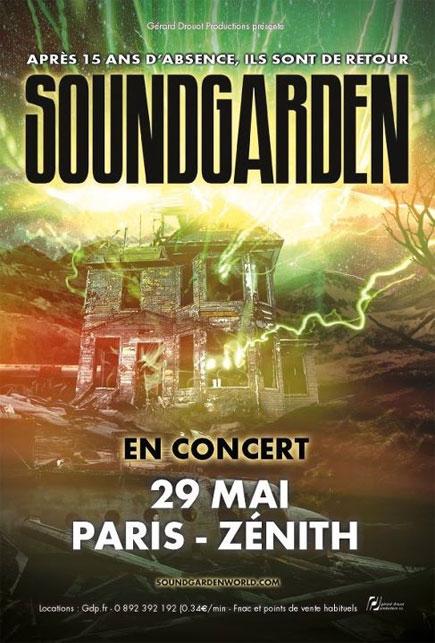 Soundgarden @ Zénith (Paris), le 29 Mai 2012