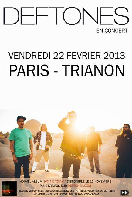 Deftones @ Trianon (Paris), le 22 Février 2013