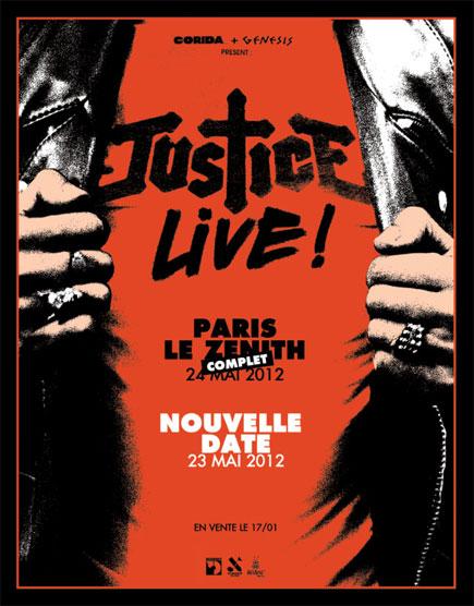 Justice @ Zénith (Paris), le 24 mai 2012