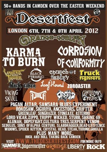 DesertFest @ London (UK), du 6 au 8 avril 2012